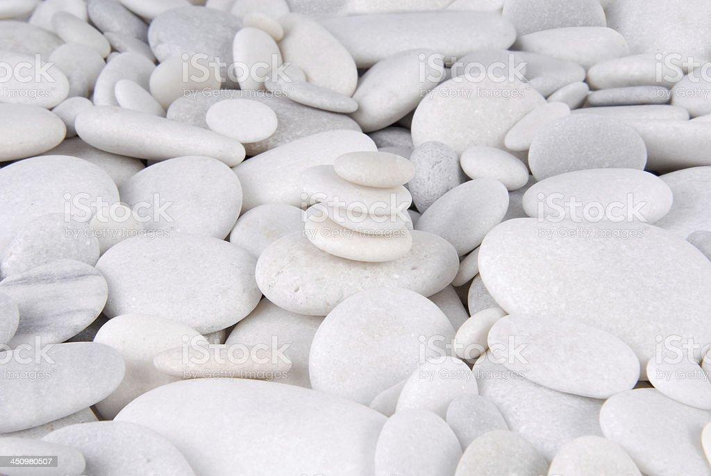 white stone pebbles concept royalty-free stock photo