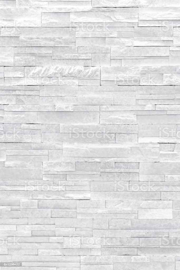 White stone veneer wall texture stock photo