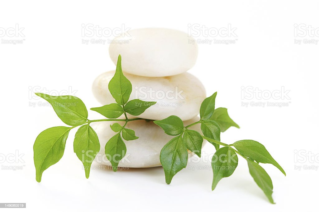 white stones royalty-free stock photo