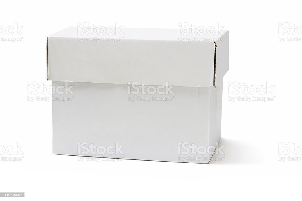 White storage box royalty-free stock photo