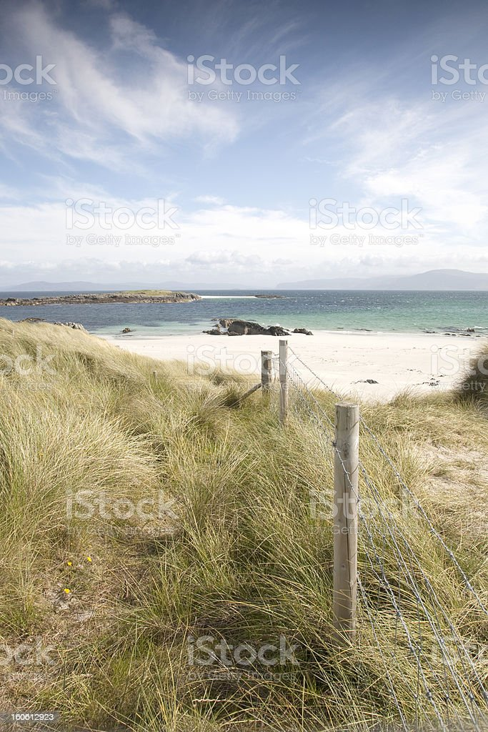 White Strand of the Monks Beach; Iona royalty-free stock photo