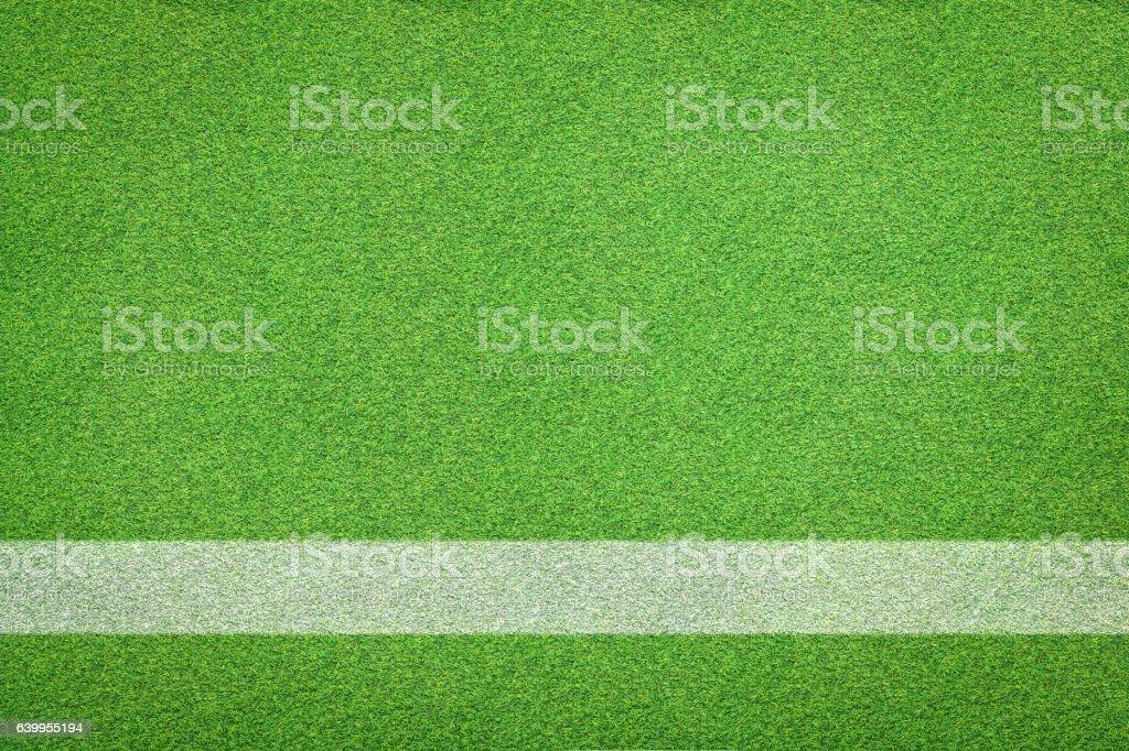 white stripe on soccer field stock photo