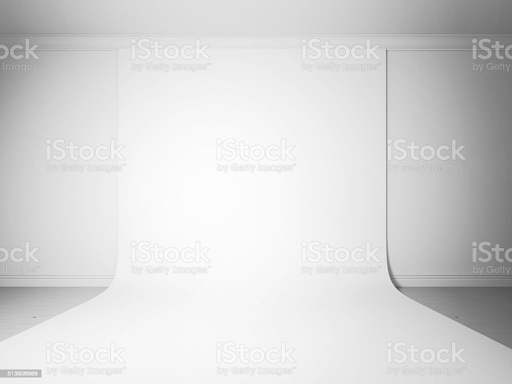 White studio background frontal stock photo