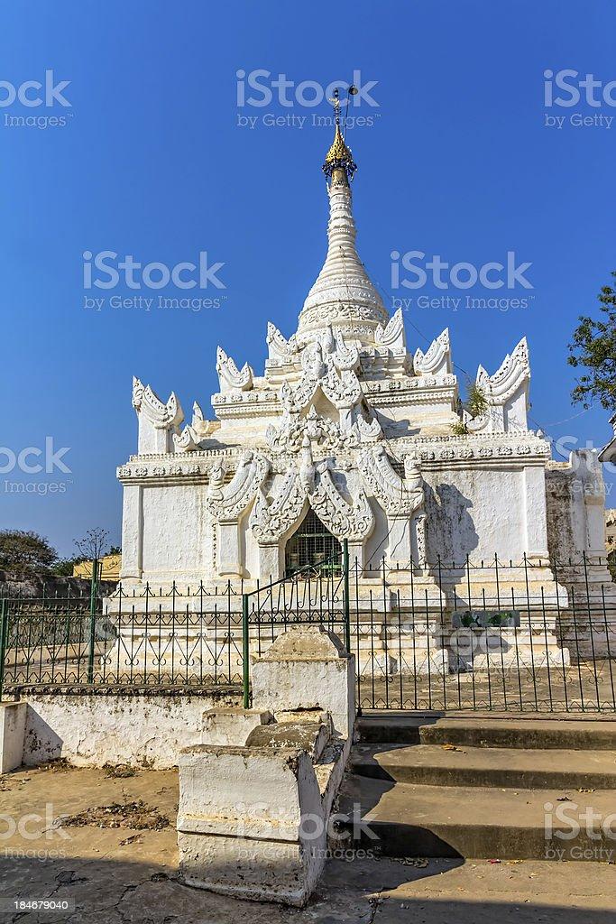 White stupa royalty-free stock photo