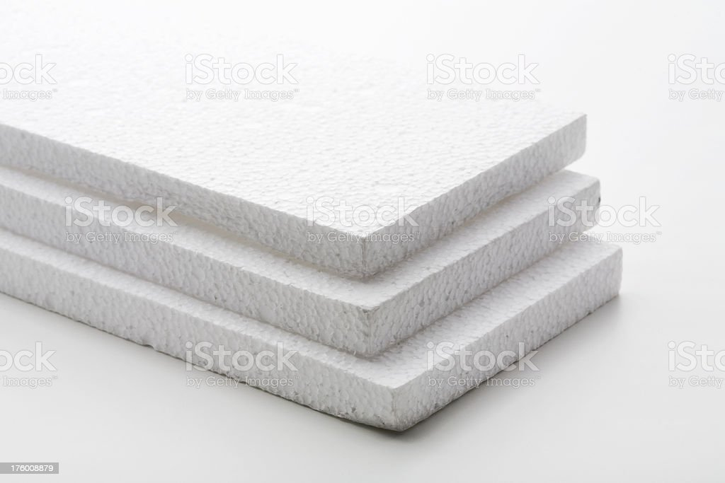 'White Styrofoam Blocks, Studio Isolated' stock photo