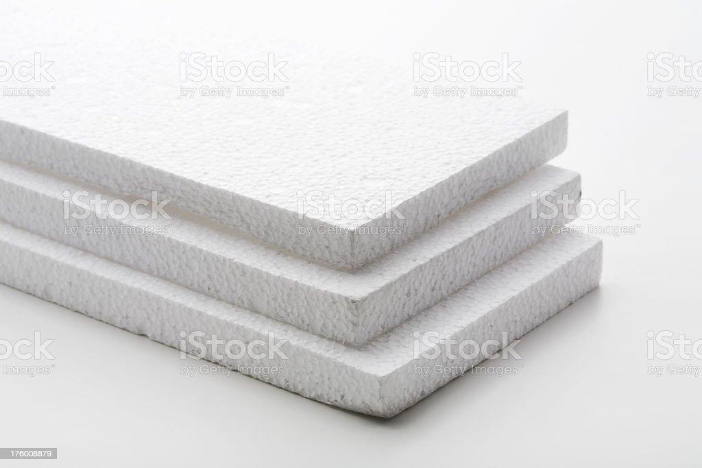 White Styrofoam Blocks, Studio Isolated stock photo