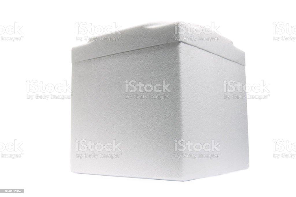 White styrofoam box stock photo