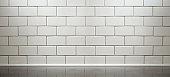 white subway tile kitchen counter