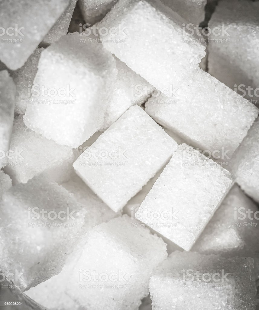 White Sugar cubes stock photo