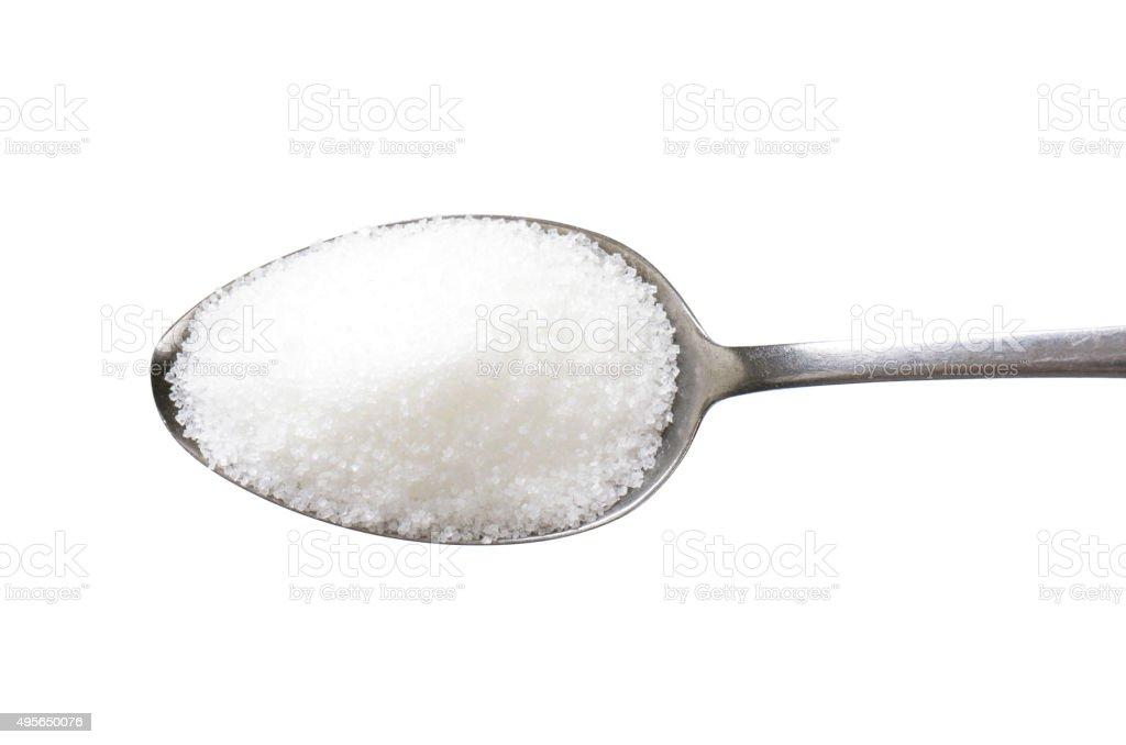 White sugar stock photo