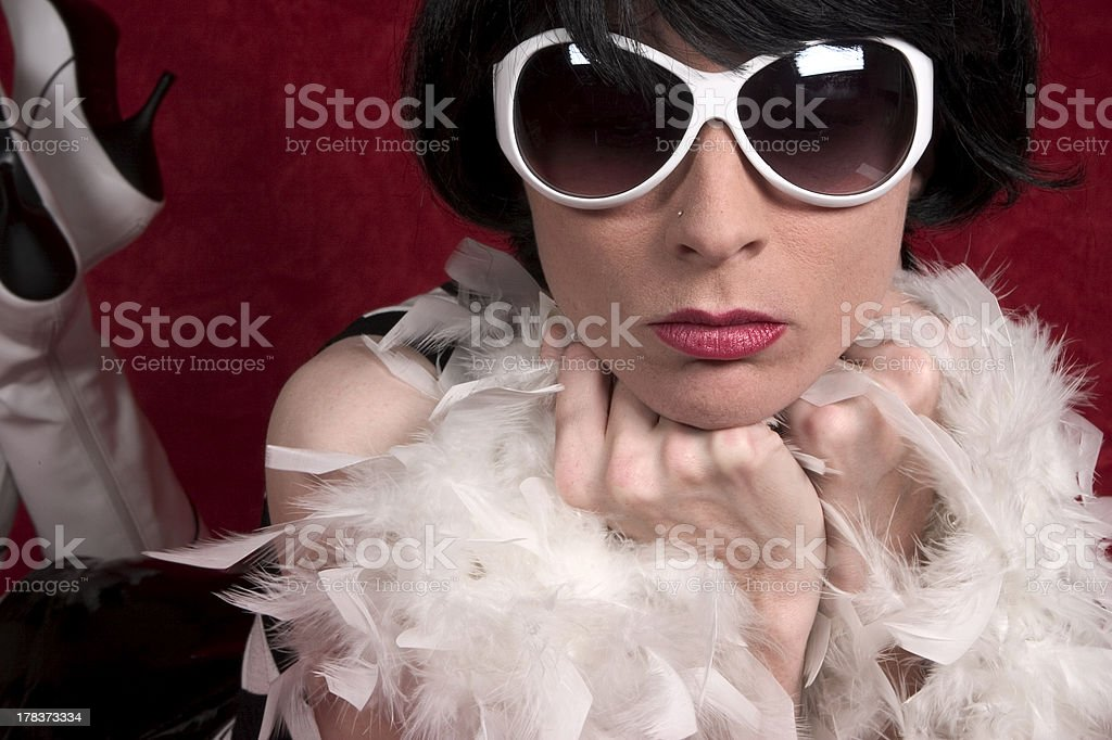 white sunglasses and boots royalty-free stock photo