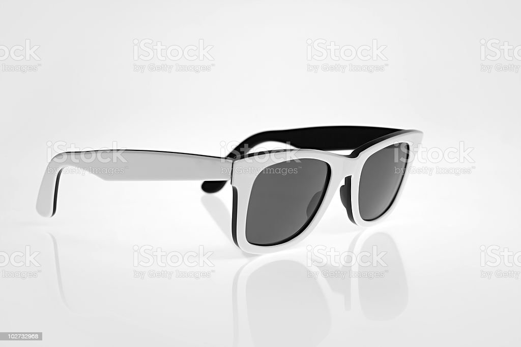 White Sunglasses royalty-free stock photo