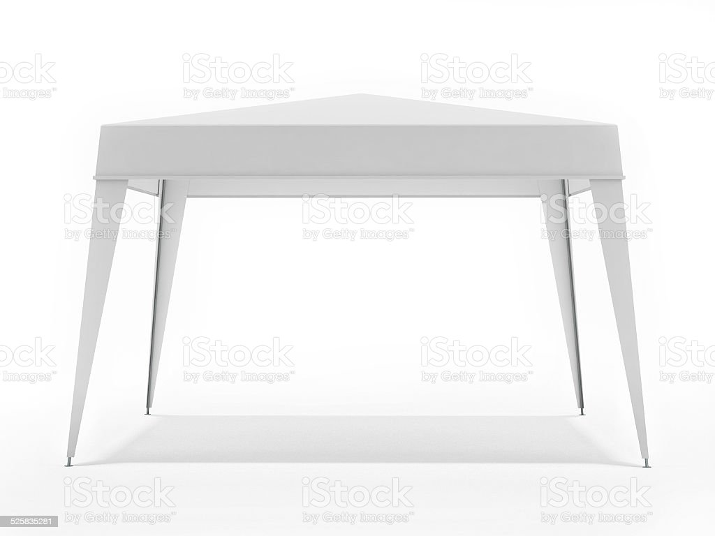 White Suny Canopy Isolated on White Background stock photo