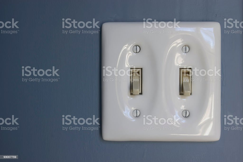 White Switch Plate royalty-free stock photo