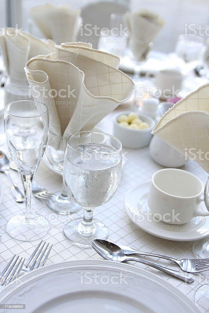 White Table Setting royalty-free stock photo