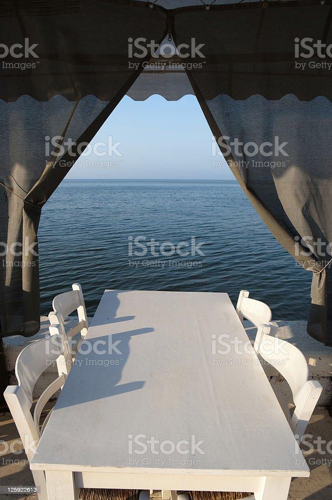 White Tables Restaurant royalty-free stock photo