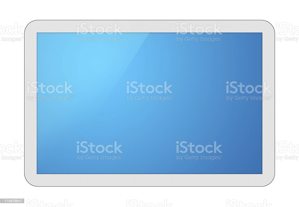 White Tablet PC royalty-free stock photo