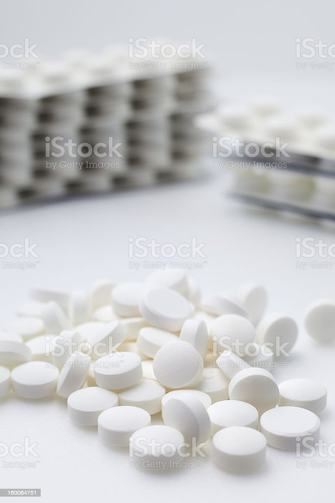 White tablets. royalty-free stock photo