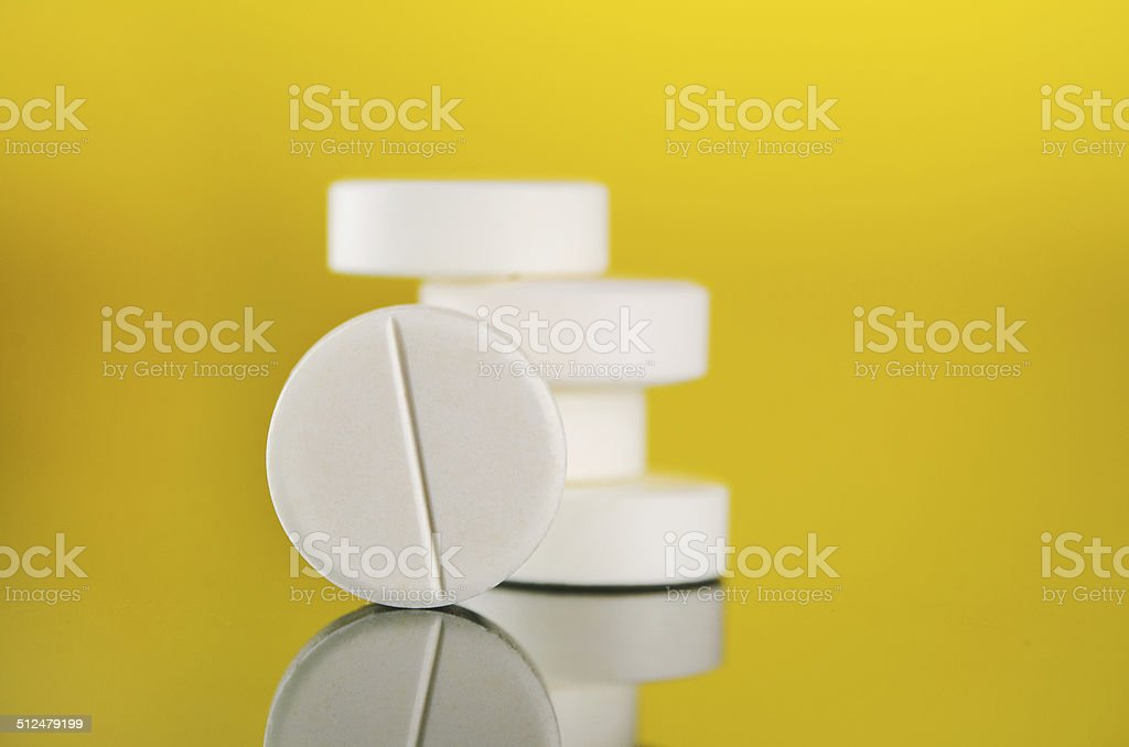 white tablets stock photo