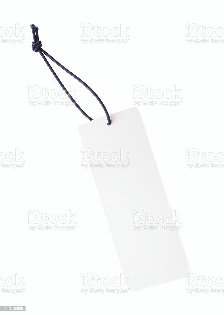 White Tag stock photo