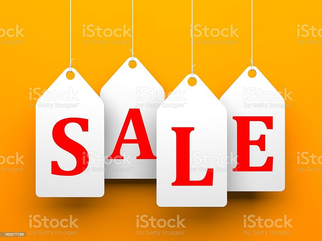 White tags with word sale royalty-free stock photo