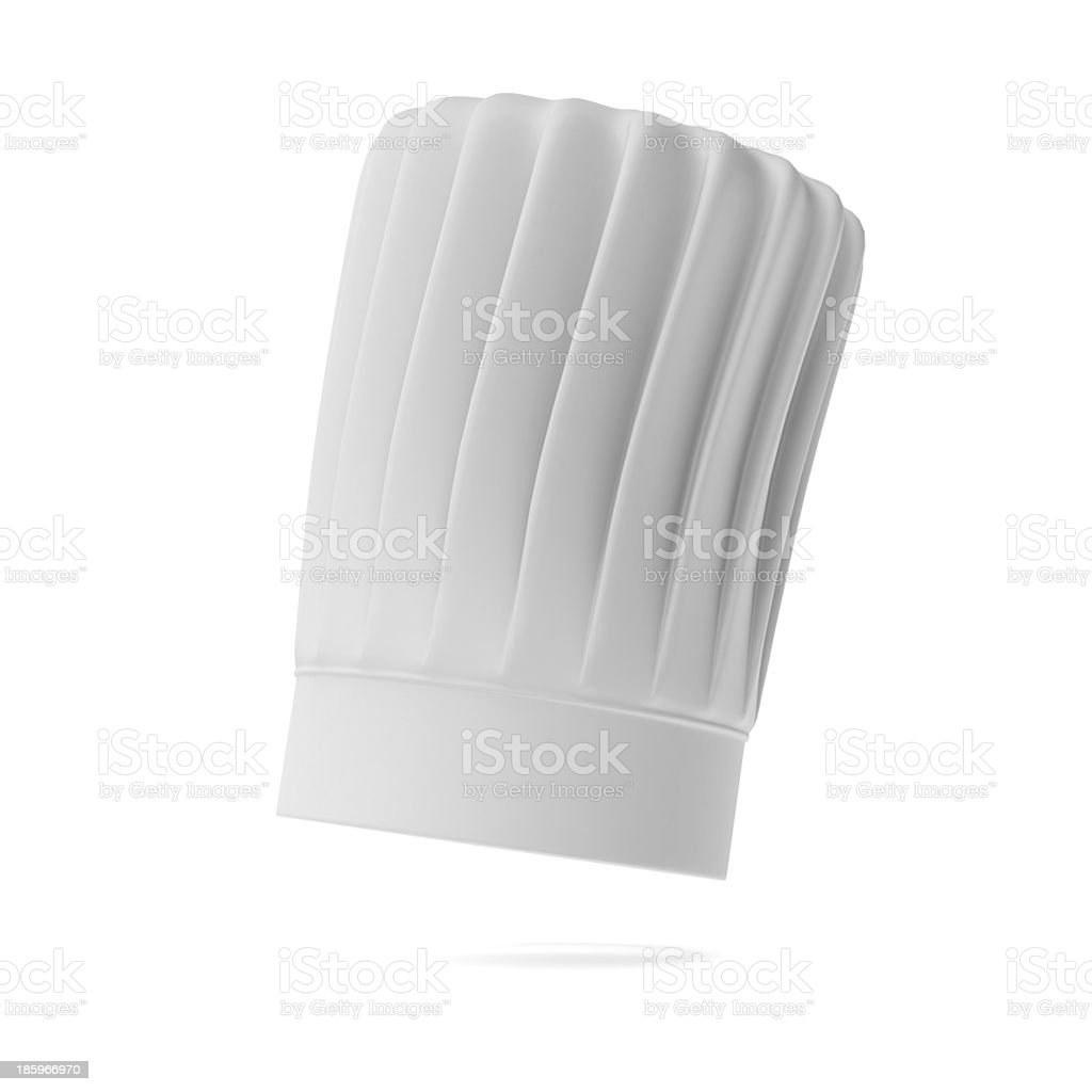 White tall chef hat stock photo