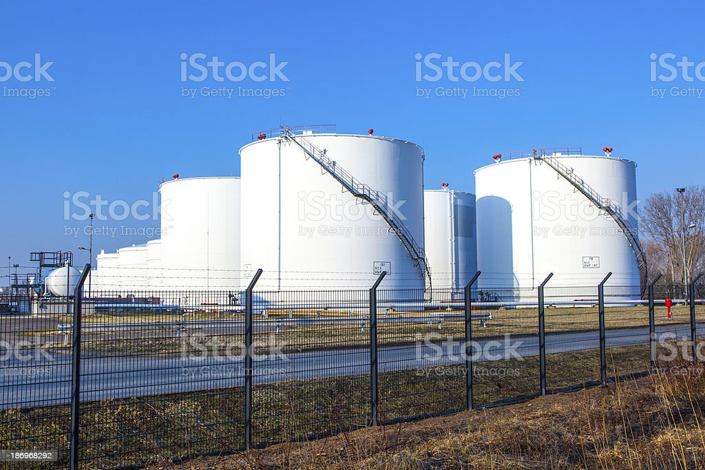 white tank with blue sky royalty-free stock photo