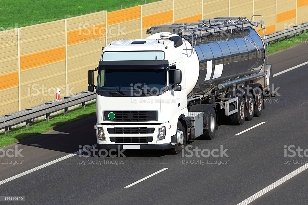 White Tanker Truck royalty-free stock photo