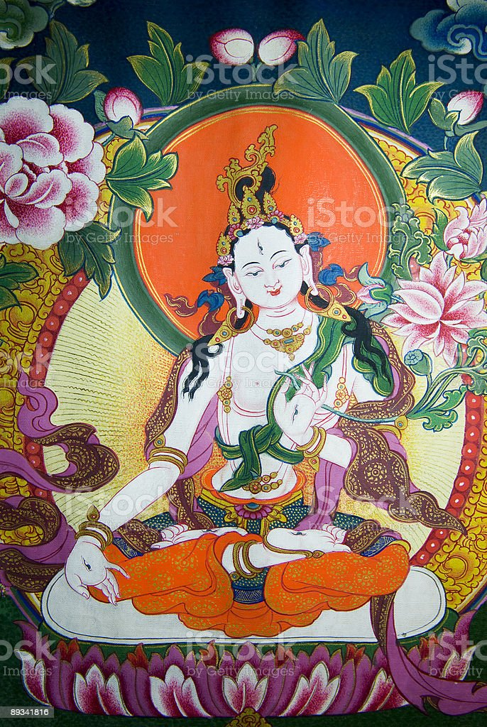 White Tara stock photo