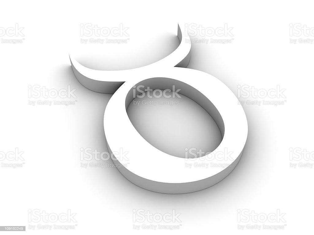 White taurus sign stock photo
