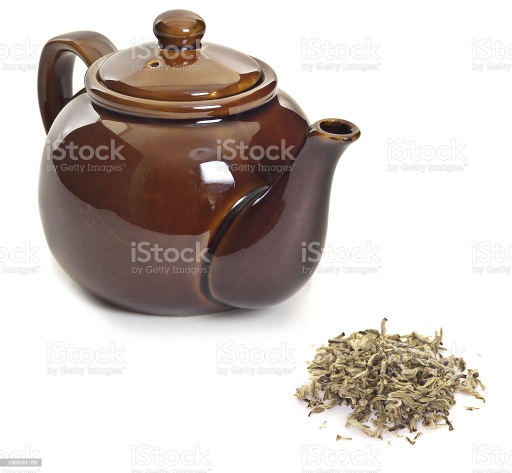 White Tea and Teapot royalty-free stock photo