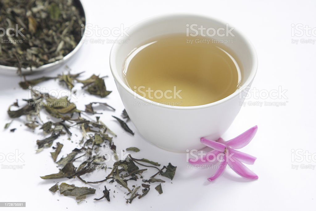 White tea in a cup royalty-free stock photo