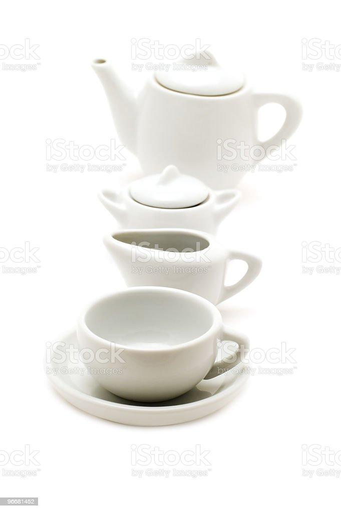 White tea service royalty-free stock photo