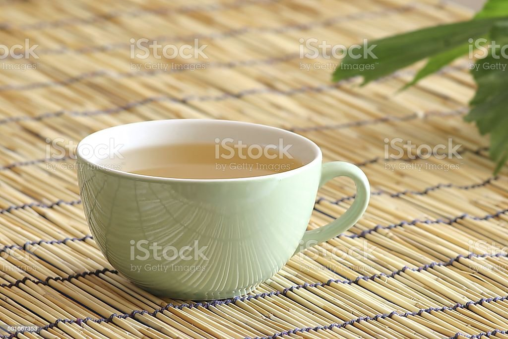 white tea with ginseng stock photo
