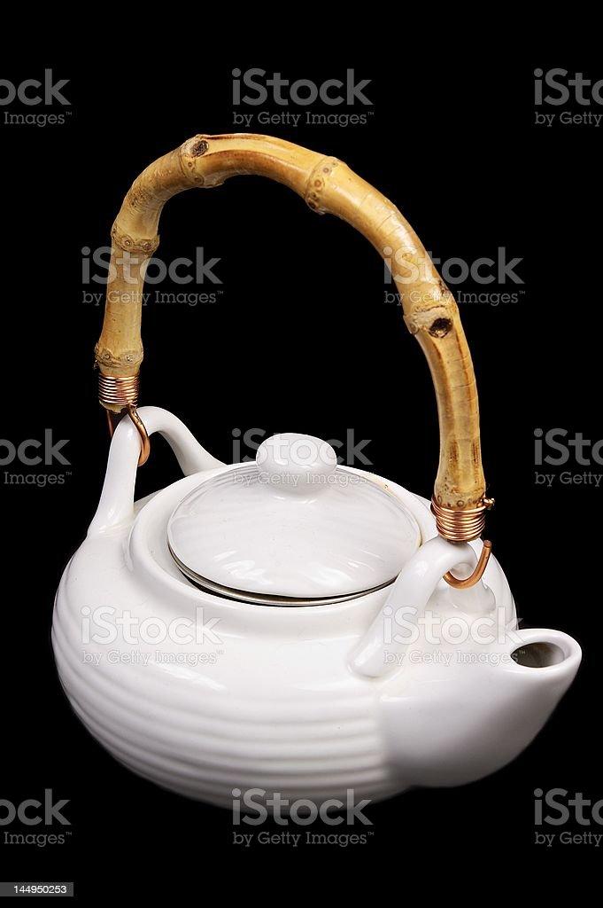 White teapot royalty-free stock photo
