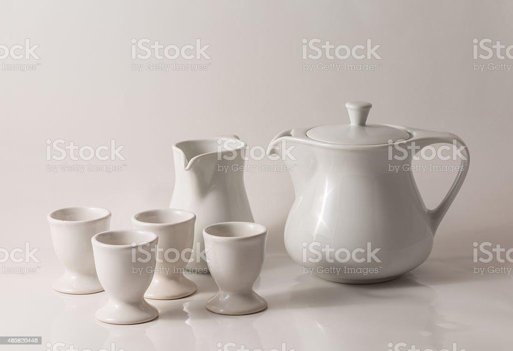 white teapot stock photo