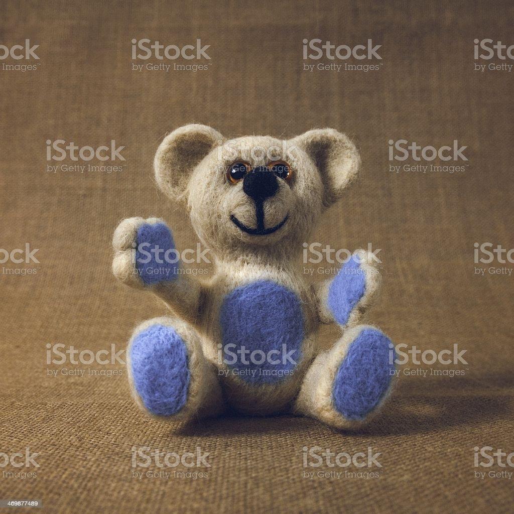 White Teddy Bear stock photo