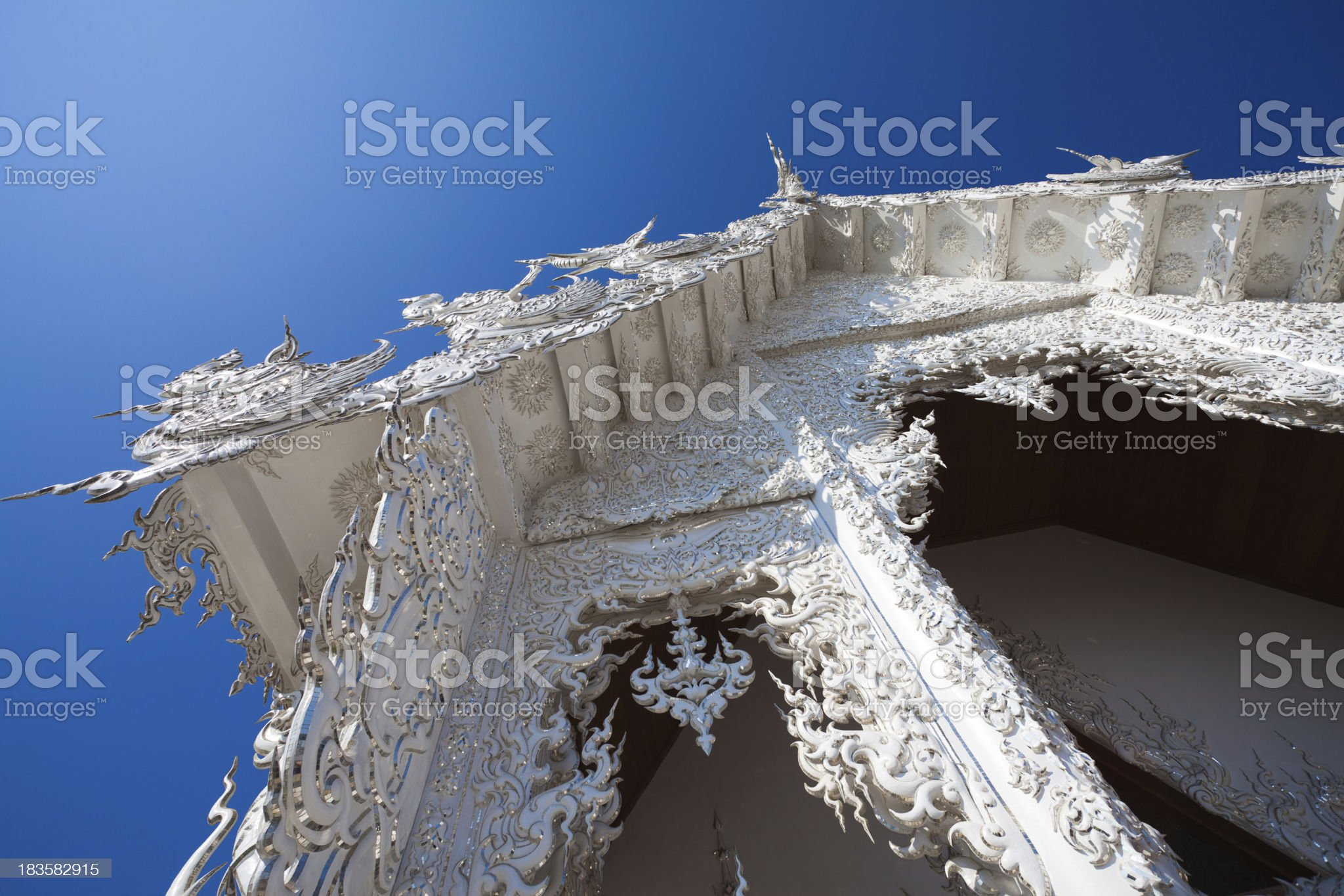 White Temple in Chiang Rai, Thailand royalty-free stock photo