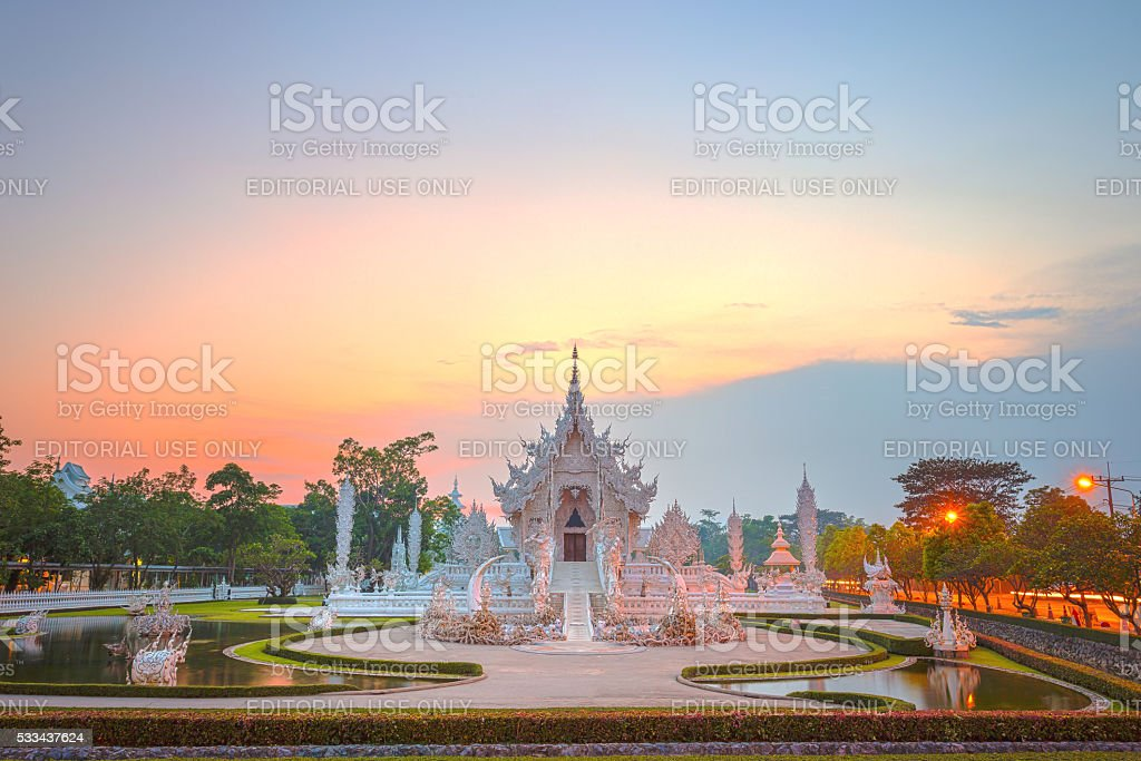 White Temple or Wat Rong Khun stock photo
