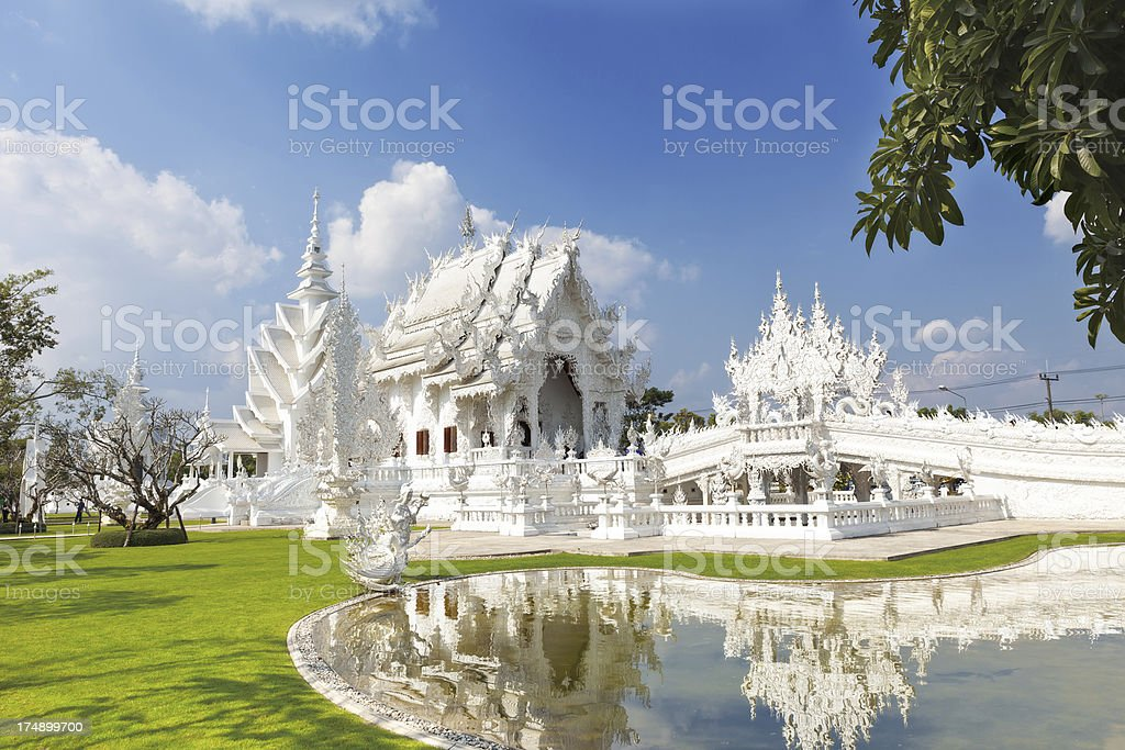 White Temple- Wat Rong Khun in Chiang Rai royalty-free stock photo