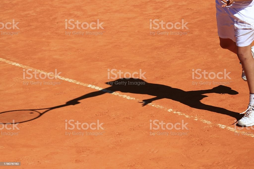 White tennis player royalty-free stock photo