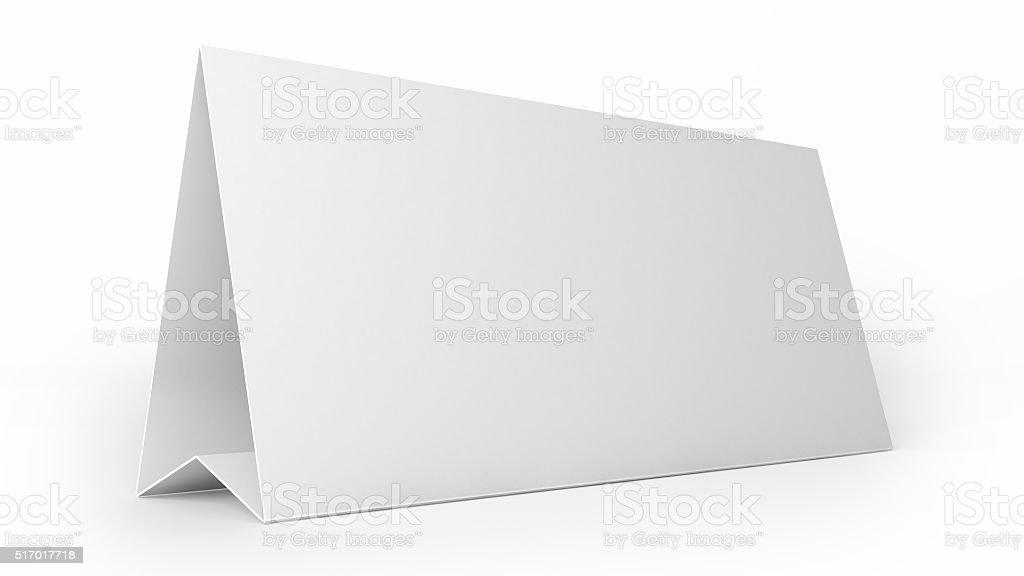 white tent card stock photo
