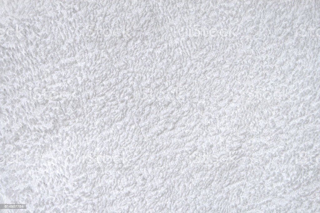 White terry toweling texture stock photo