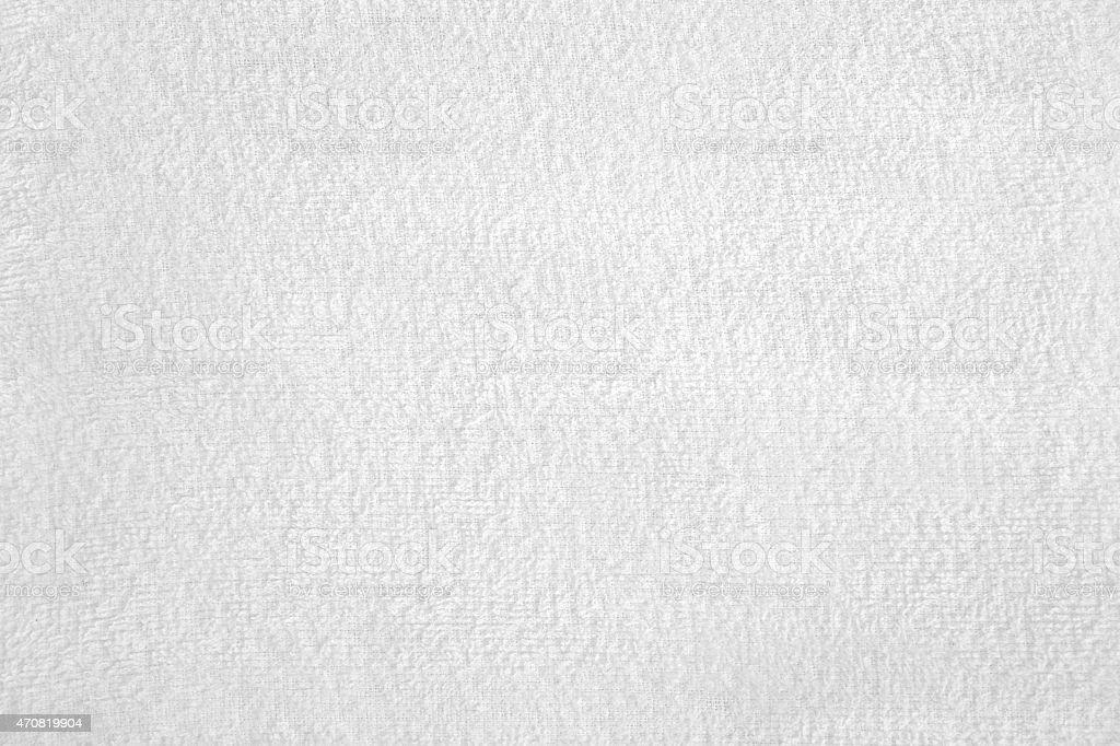White Terry Toweling Towel Terrycloth texture stock photo