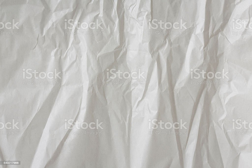 White textured paper crumpled background. stock photo