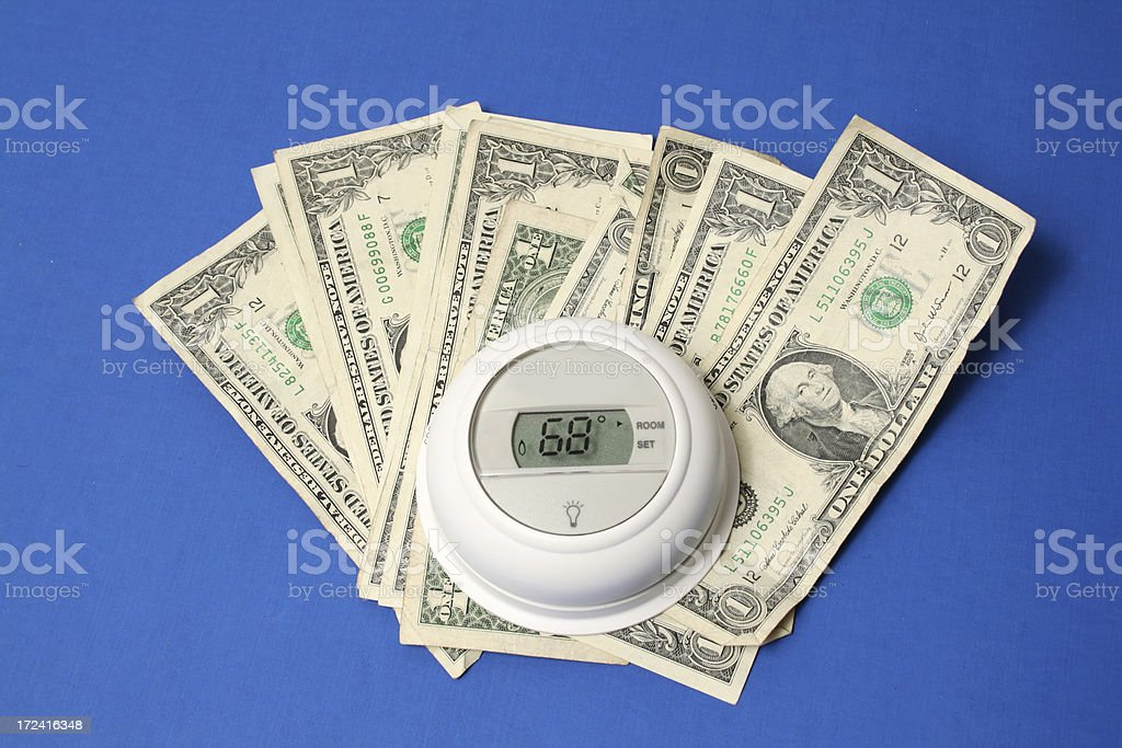 white thermostat royalty-free stock photo