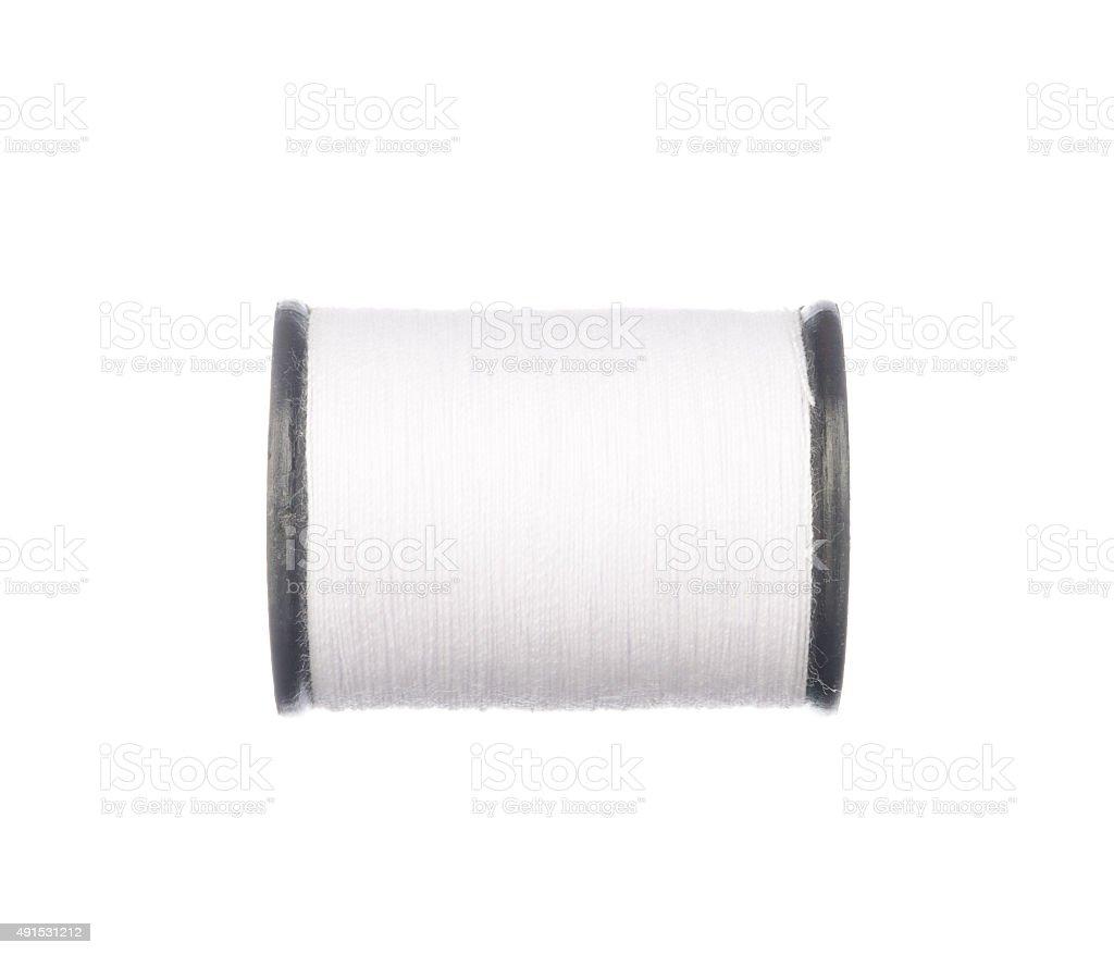 White thread isolated on white stock photo