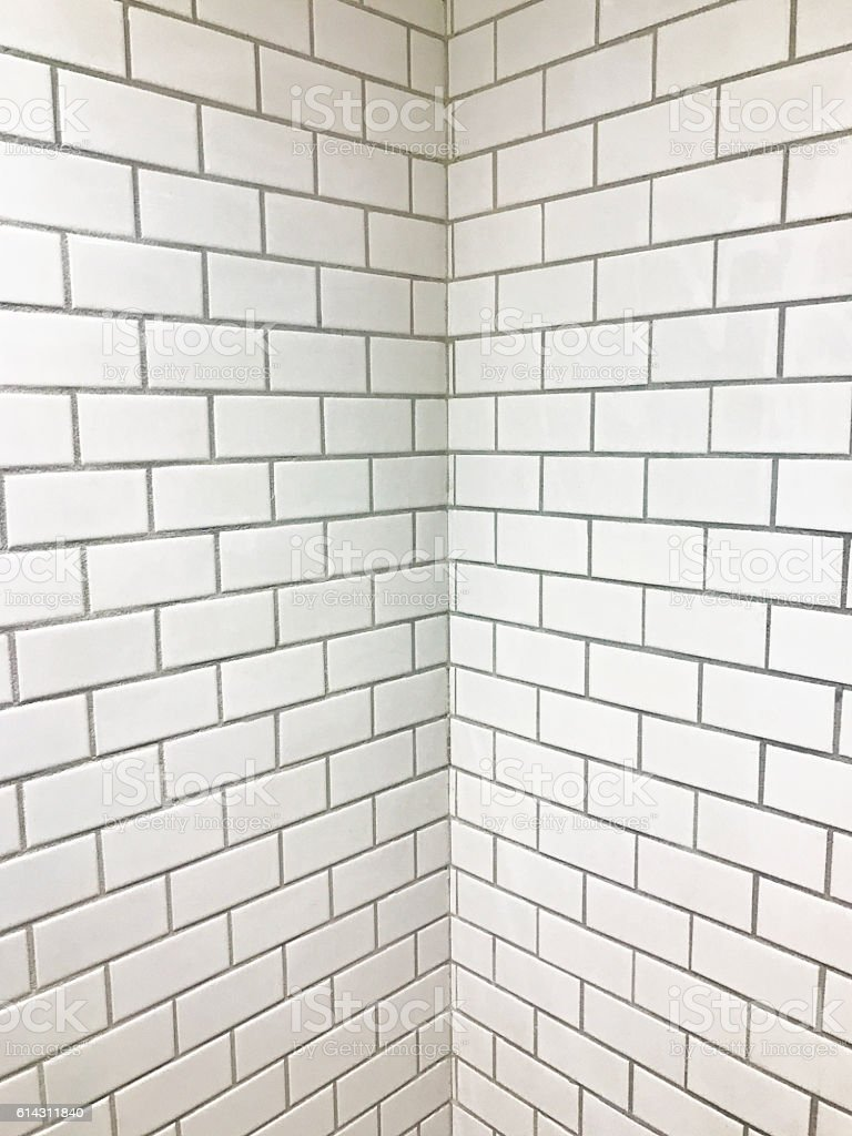 White Tile Background and Texture stock photo