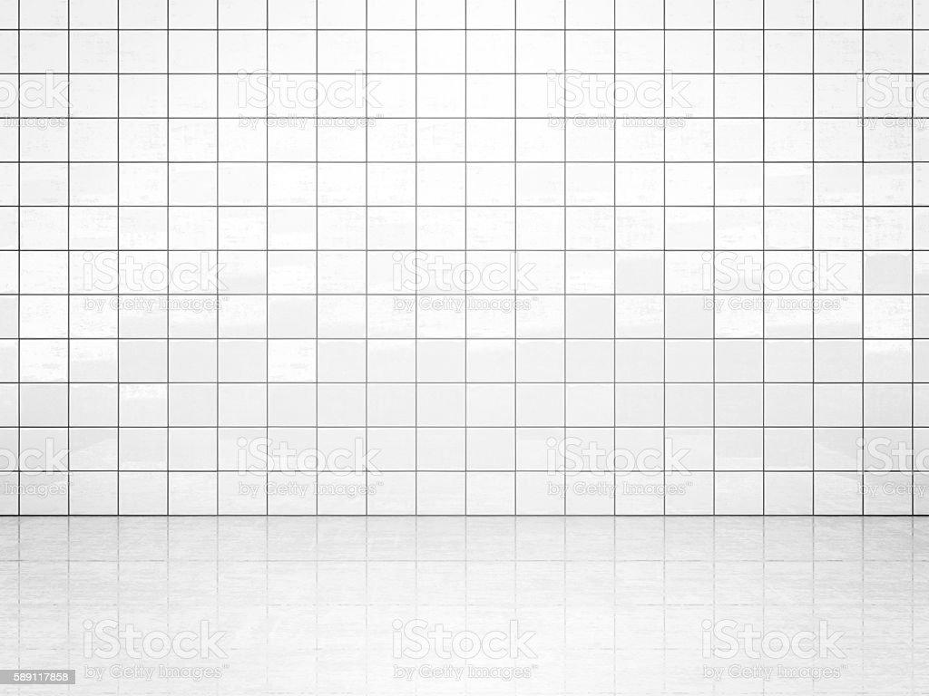 White tile wall stock photo