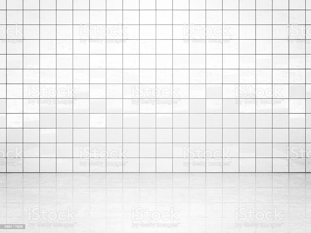 White tile wall stock photo